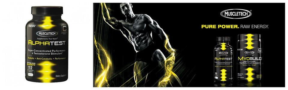 MuscleTech Alphatest, le stimulant de performance et testostérone