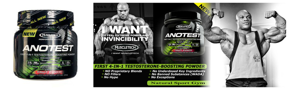 Muscletech Anotest, le booster de testostérone 4 en 1