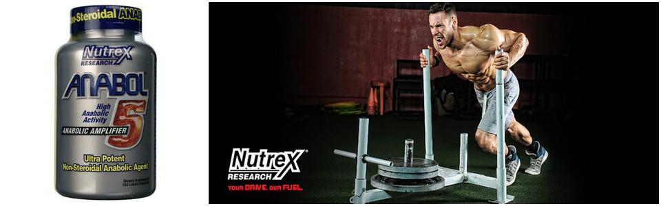 Nutrex Anabol 5, l'agent anabolique non-stéroïdal puissant
