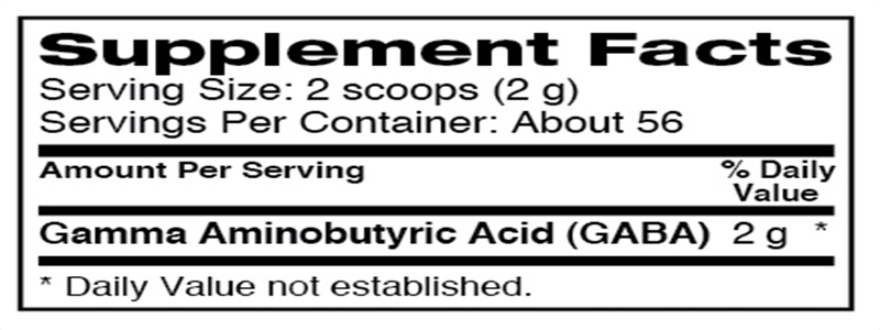 Ingredients-de-dymatize-gaba