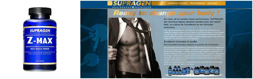 Supragen Z max, une prise de muscle parfumée