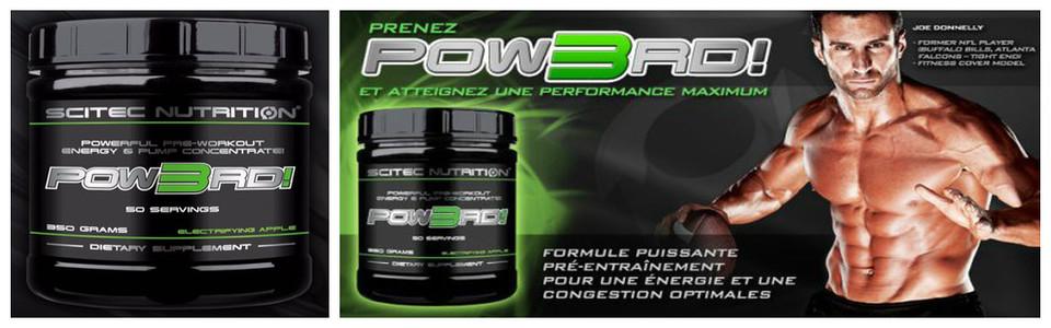 Pow3rd de Scitec, performance, énergie et puissance