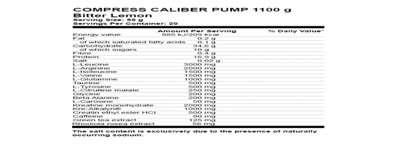 ingredients-de-nutrend-caliber-pump