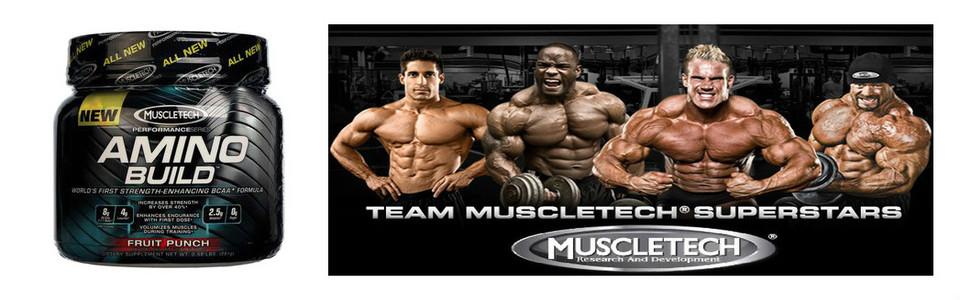Muscletech AminoBuild, augmentez votre force jusqu'à 40%