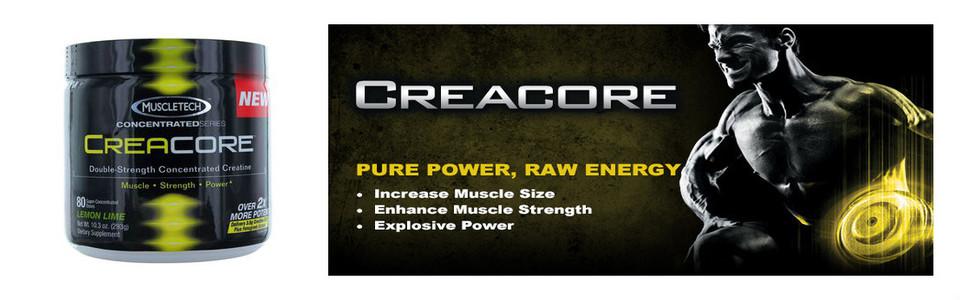 Creacore de Muscletech une double dose de créatine concentrée