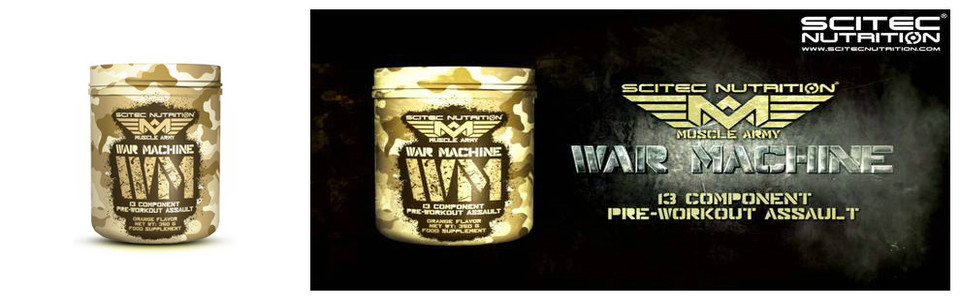 War Machine Scitec que la guerre commence…
