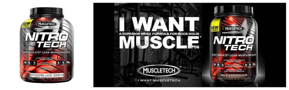 MuscleTech Nitro Tech, une puissante formule de protéines