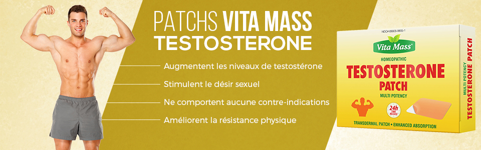 Vita Mass Patch Testosterone, une formule homéopathique