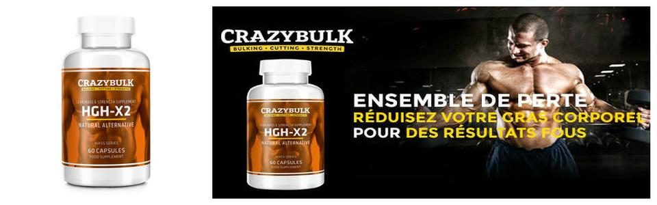 Crazybulk HGH-X2, boostez votre masse maigre et endurance